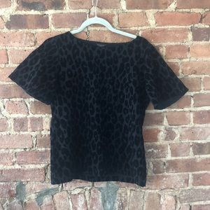 Velvet cheetah peplum top!